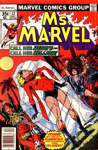 early Ms. Marvel comic book costume