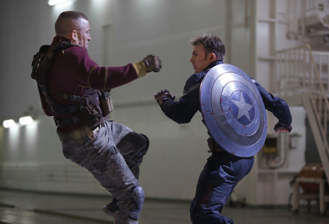 Captain America: The Winter Soldier Georges St. Pierre vs. Chris Evans fight