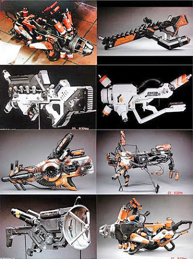 variety of weapons from District 9 movie