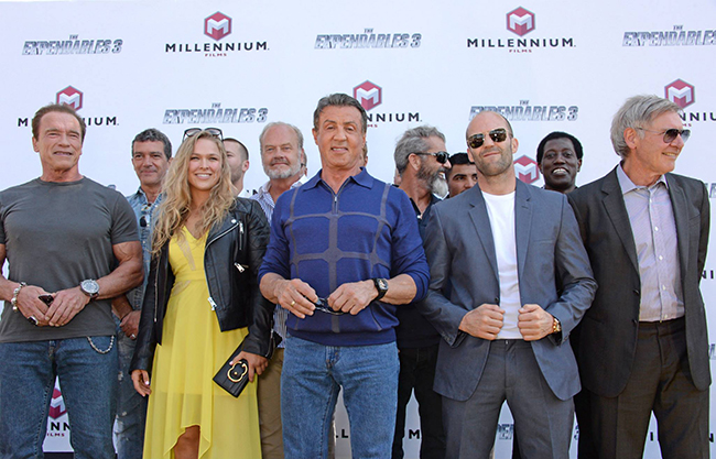 The Expendables 3 cast on the red carpet at Cannes 2014