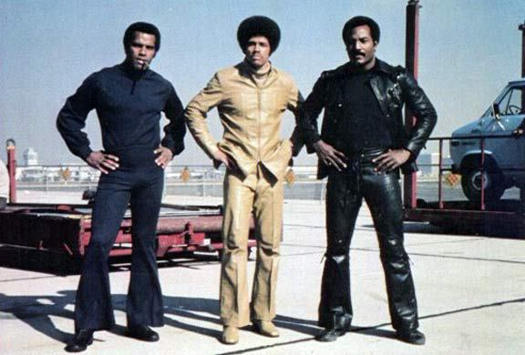 Jim Kelly with Fred Williamson and Jim Brown in Three The Hard Way