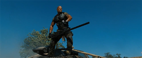 G.I. Joe 2: Retaliation The Rock fires a BIG gun