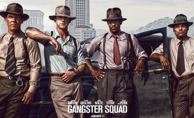 Gangster Squad drawing of Josh Brolin, Ryan Gosling, Anthony Mackie, and Michael Pena