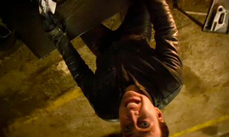 upside down camera angle from Ghost Rider 2: Spirit of Vengeance