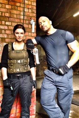 The Rock and Gina Carano from Fast & Furious 6