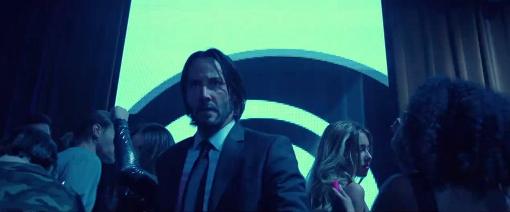Keanu Reeves is relentless in John Wick as he chases Iosef across the dancefloor in the Red Circle Club