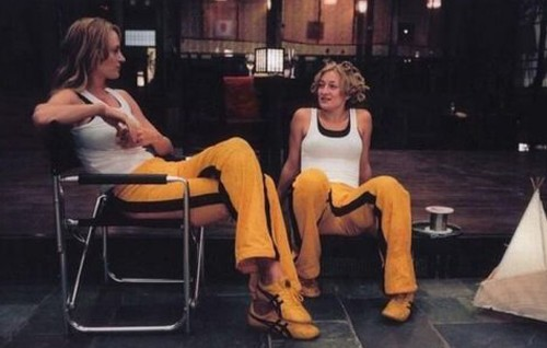 Kill Bill Vol 1 Uma Thurman and Zoe Bell