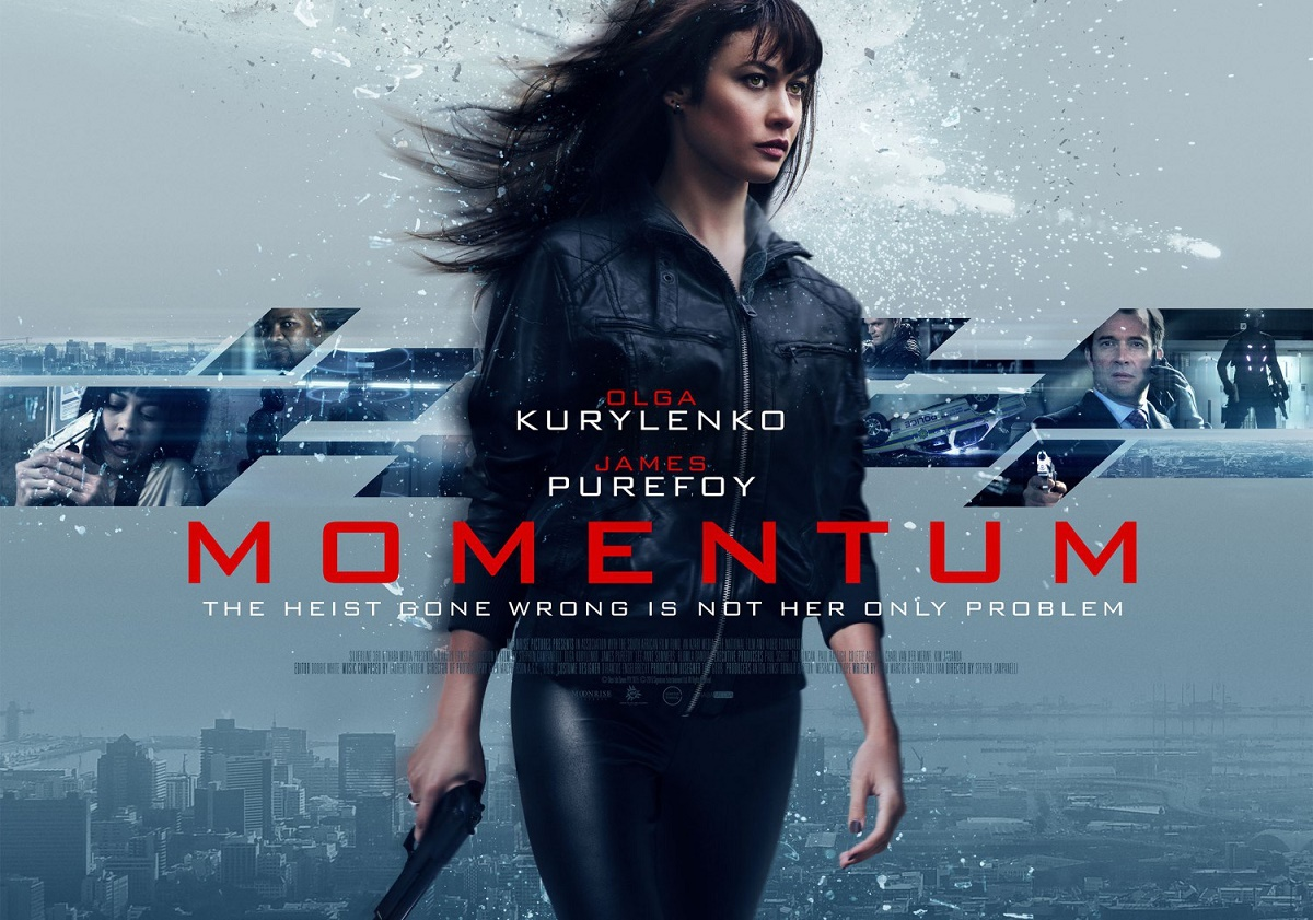Olga Kurylenko MOMENTUM action movie poster