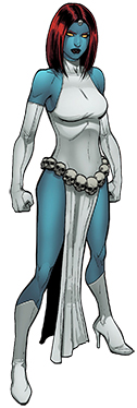 Less revealing Mystique costume from comic book