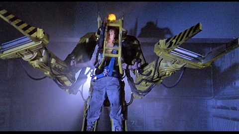 Ripley operating the power loader at the end of Aliens