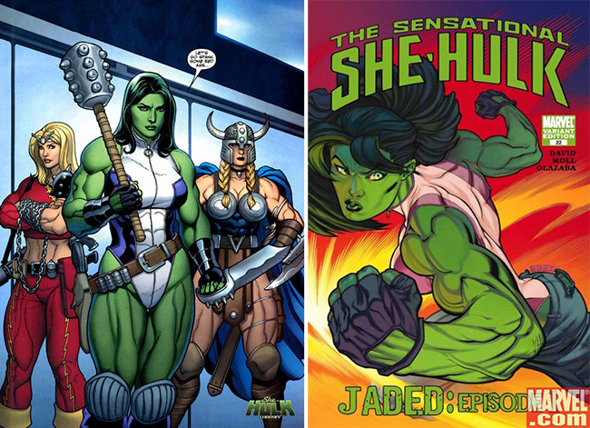 Muscular pictures of She Hulk comics