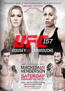 Rousey vs Carmouche Making History poster