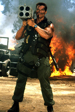 Arnold Schwarzenneger in Commando