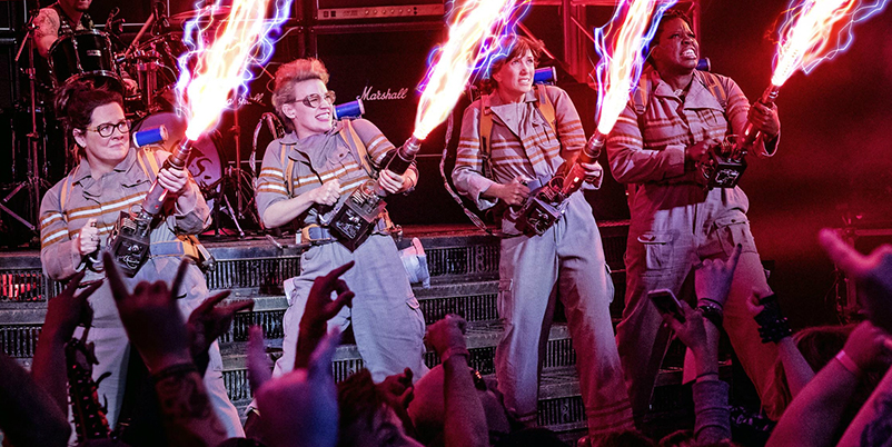Ghostbusters 2016 cast in action