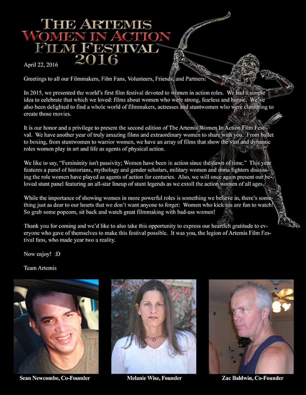 Artemis Women in Action Film Festival 2016 Program page 3
