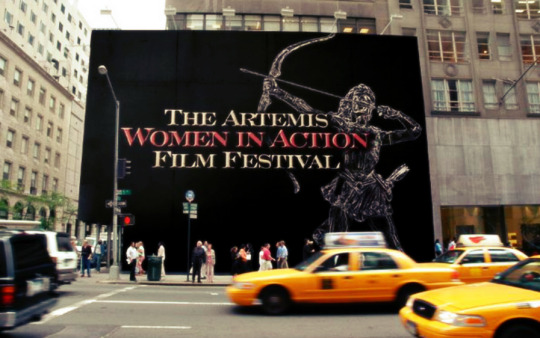 Artemis Women in Action Film Festival wall