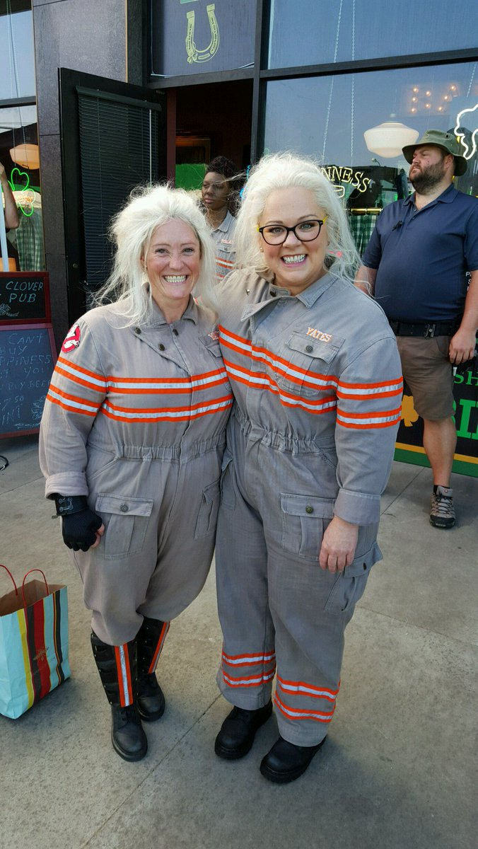 Luci Romberg and Melissa McCarthy in Ghostbusters