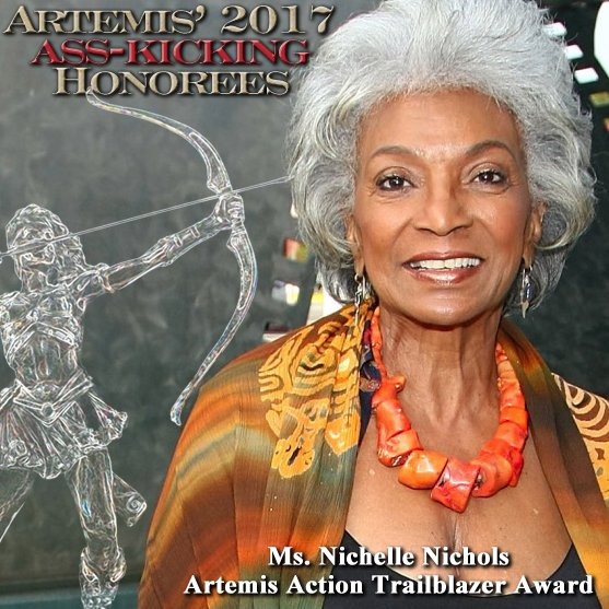 Aretemis Women in Action Film Festival Honoree Nichelle Nichols Action Trailblazer Award