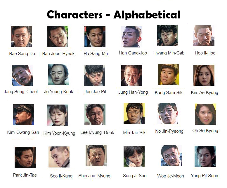 Bad Guys: Vile City characters in alphabetical order