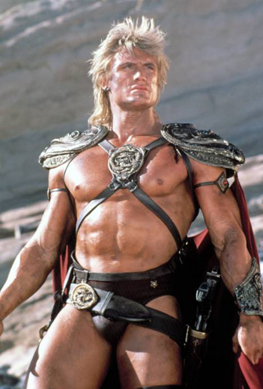 Dolph Lundgren as He Man in Masters of the Universe