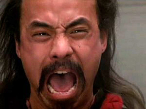 Al Leong screams in Big Trouble in Little China