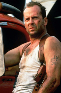 Bruce Willis as John McLane in Die Hard