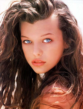 Milla Jovovich as a teen