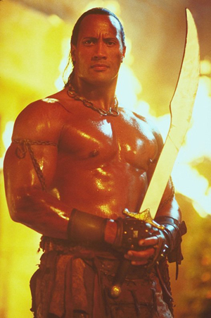 Dwayne The Rock Johnson in The Scorpion King