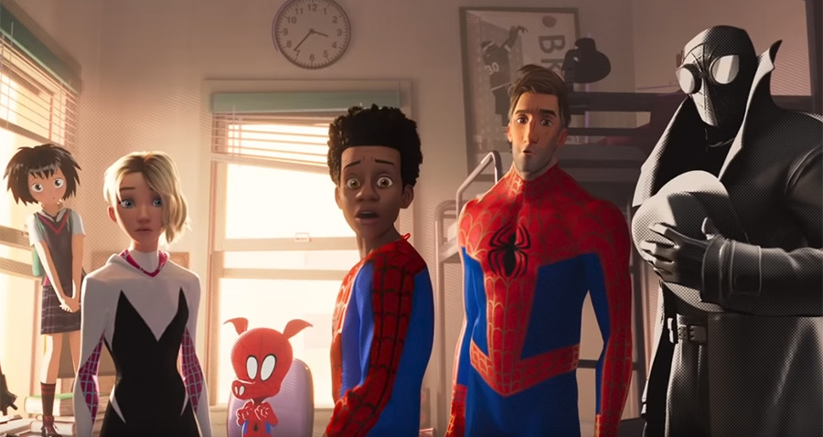 Spider-Man: Into the Spiderverse multiple spider characters