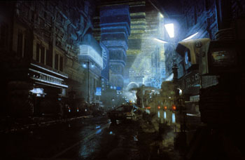 Blade Runner movie L.A. street scene