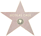 Nicolas Cage's star on the Hollywood Walk of Fame
