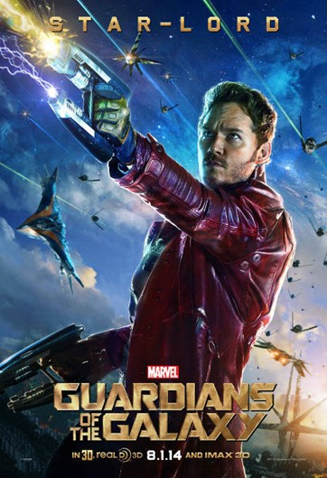 Guardians of the Galaxy Star Lord character poster