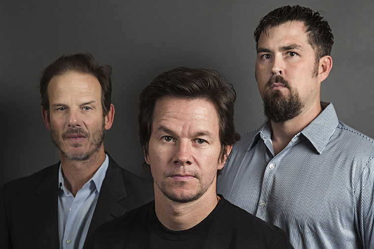 Peter Berg, Mark Wahlberg, and Marcus Luttrell