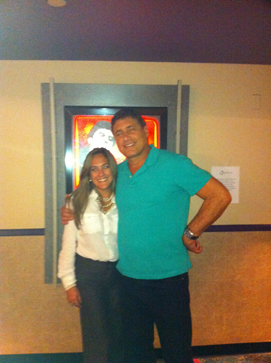 Mabel Soriano with Steven Bauer August 31 2011 at AMC Sunset Place in Miami