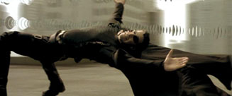 The Matrix movie Neo and bullet time