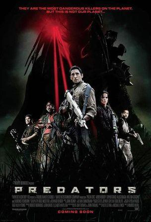 Predators movie poster with cast members