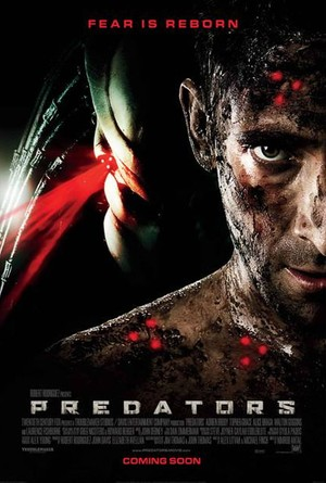 Predators movie poster with Adrian Brody