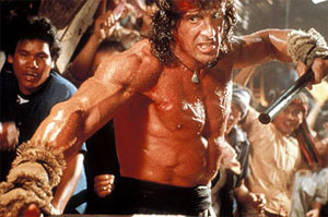 Rambo III stick fight
