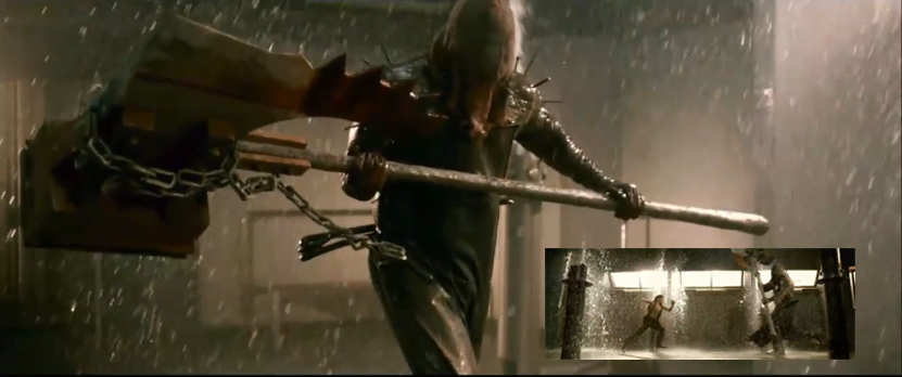 The evil giant Majini with the big ax in Resident Evil Afterlife