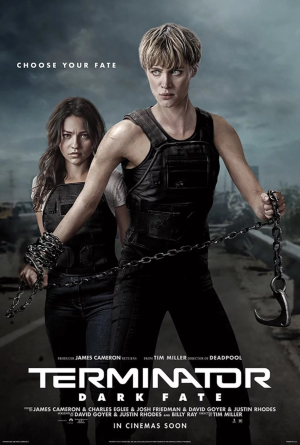 Terminator Dark Fate character poster of tiny and skinny chicks