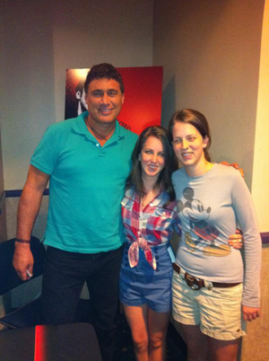 Steven Bauer with The Mann Sisters at Scarface August 31 2011 at AMC Sunset Place in Miami
