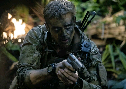 Boyd Holbrook as bad ass sniper Quinn McKenna in The Predator