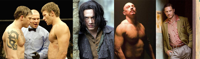 collage of Tom Hardy roles