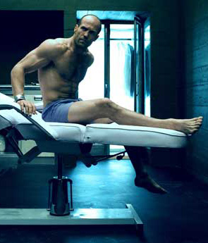 Jason Statham in blue boxers Transporter 2