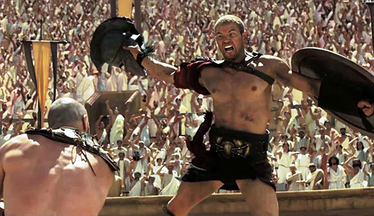 Kellan Lutz fights in The Legend of Hercules