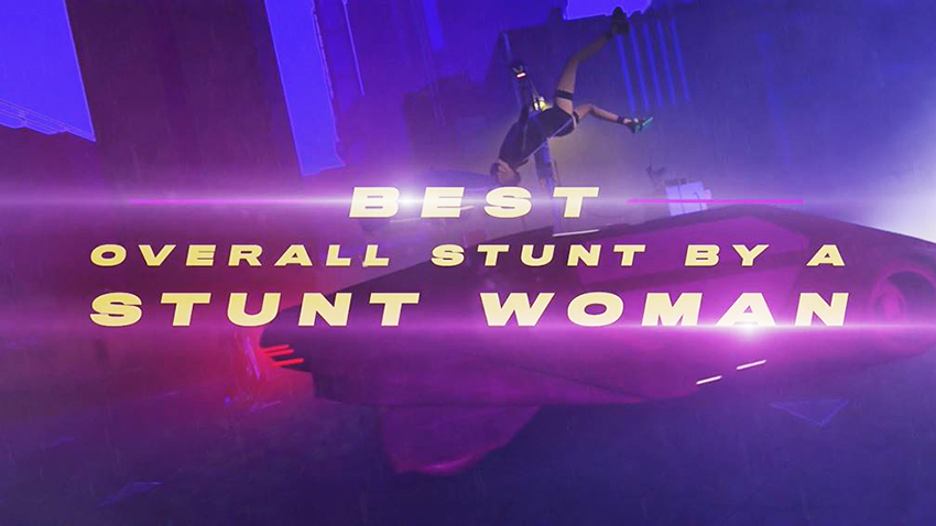 Best Overall Stunt by a Stunt Woman placeholder animated clip from 2020 Taurus World Stunt Awards video