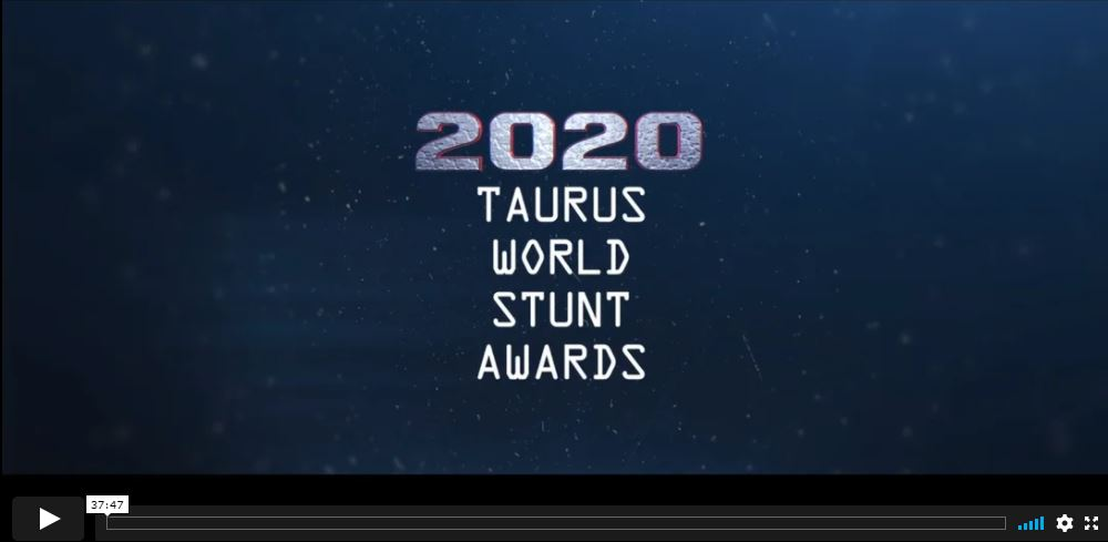 screencap of 2020 Taurus World Stunt Awards video on vimeo
