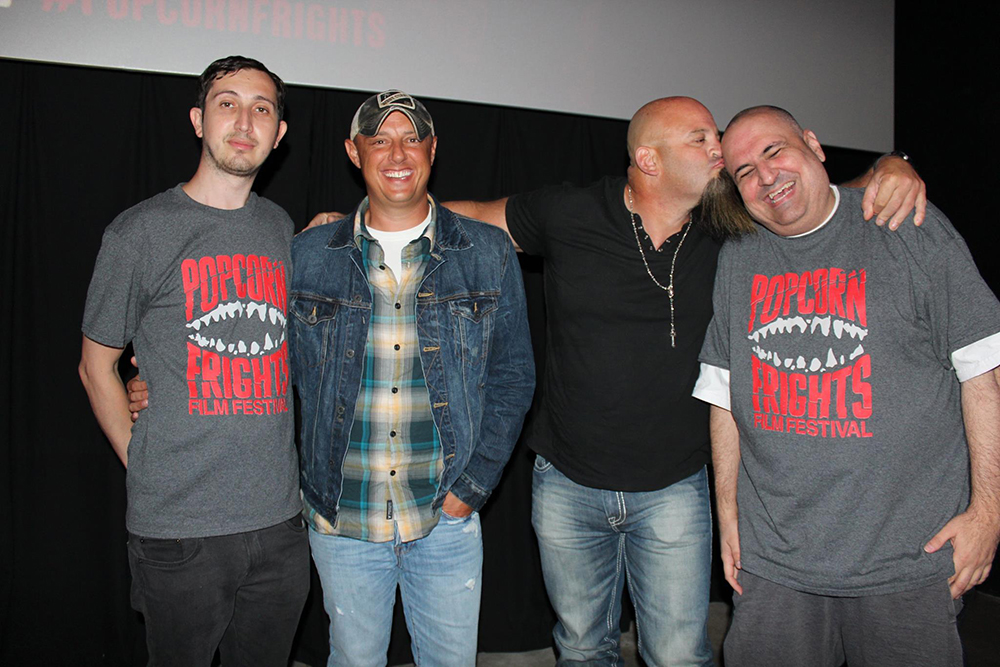 Popcorn Frights Co-Founder/Director Igor  				Shteyrenberg, Chad, Lobo, and Co-Founder/Director Marc Ferman, at the showing of Daylights End at O Cinema Wynwood in Miami