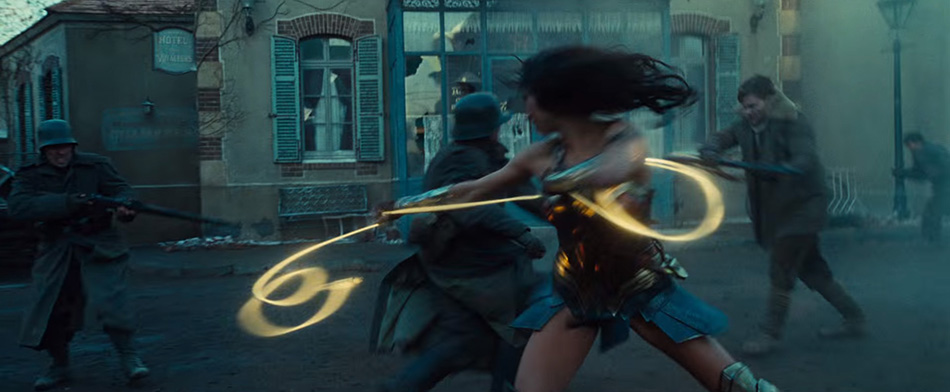 Wonder Woman uses the Lasso of Truth