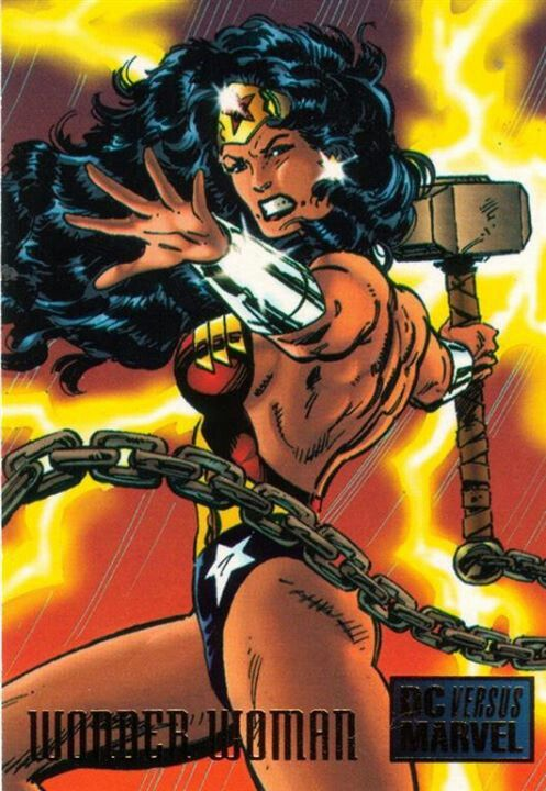 Wonder Woman wields Mjolnir